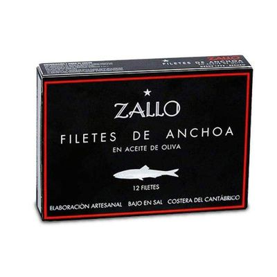 ANCHOAS DEL CANTABRICO ZALLO  12 FILETES